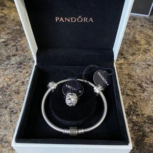 BNWT Pandora bracelet with charms